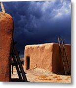Storm On The Mesa Metal Print
