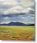 Storm Over Desert Metal Print by Max Mckenzie