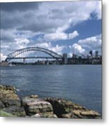 Storm Over Sydney Harbor Metal Print