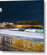 Storm Over The Aegean Metal Print