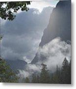 Stormy Morning In Glacier Metal Print