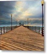 Stormy Oceanside Sunset Metal Print