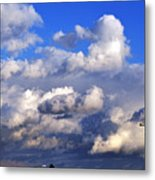 Strange Clouds Metal Print