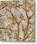 Strange Forest With Small Birds Metal Print