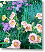 Strawberry Candy And Yarrow Metal Print