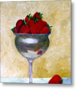 Strawberry Feast Metal Print