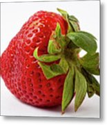 Strawberry Macro Metal Print