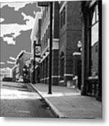 Streets Of Norwich Metal Print