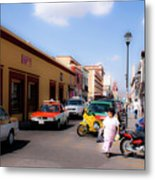 Streets Of Oaxaca Mexico 1 Metal Print