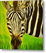 Stripes In Africa Metal Print