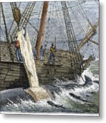 Stripping Whale Blubber Metal Print