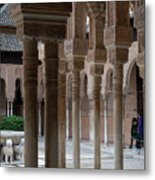 Strolling The Courtyard Of The Lions Metal Print