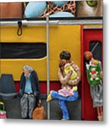 Subway - Lonely Travellers Metal Print by Anne Klar