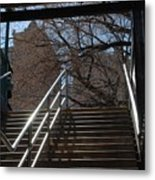 Subway Stairs Metal Print