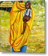 Sudanese Mother And Child Metal Print