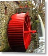 Sudbury Grist Mill Water Wheel Metal Print