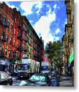 Sullivan Street In Greenwich Village Metal Print by Randy Aveille