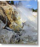 Sulphur Works - Lassen Volcanic National Park Metal Print by Christine Till