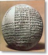 Sumerian Cuneiform Metal Print