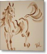 Sumi Horse Metal Print by Lyn Vic