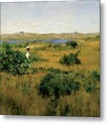 Summer At Shinnecock Hills Metal Print by William Merritt Chase