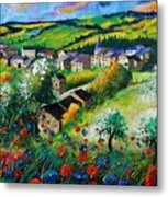 Summer In Rochehaut Metal Print