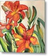 Summer Lilies Metal Print