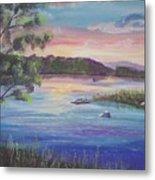 Summer Sunset On Fish Lake Metal Print