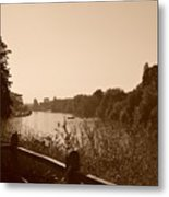 Summer View Of The River Thames Metal Print