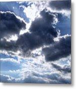 Sun Breaking Through The Clouds Metal Print by Mariola Bitner