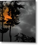 Sun Over Spring Ridge Metal Print