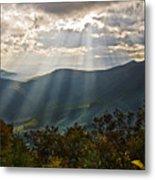 Sun Rays Linville Falls Nc Metal Print