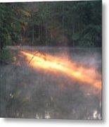 Sun Rise Across The Lake Metal Print