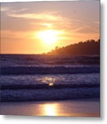 Sun Set In Carmel Metal Print