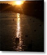 Sun Setting In Sheepshead Bay Metal Print