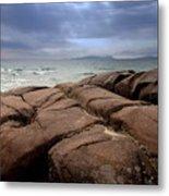 Sunbreak Over The Shoreline Metal Print