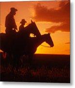 Sundown In Wyoming Metal Print