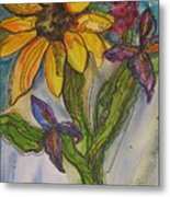 Sunflower And Friends Metal Print