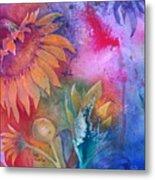 Sunflower Splash Metal Print