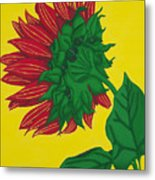 Sunflower Yellow Metal Print