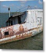 Sunken Shrimpboat Metal Print