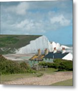 Sunlight On The Seven Sisters Metal Print