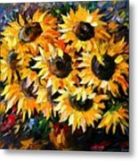 Sunny Bouquet Metal Print