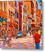 Sunny Downtown  Metal Print