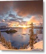 Sunrise After Summer Snowfall Metal Print