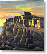 Sunrise Citadel Metal Print