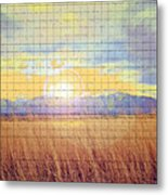 Sunrise Field 2 - Mosaic Tile Effect Metal Print