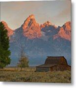 Sunrise In Jackson Hole Metal Print