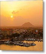 Sunrise On Aruba Metal Print