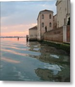 Sunrise On Isola Di San Clemente Venice Metal Print by Harry Mason